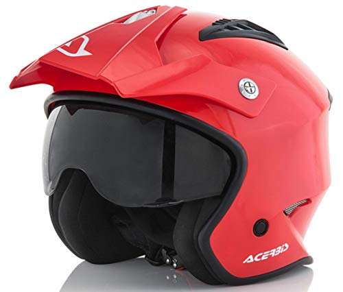 casco Jet aire Rojo L