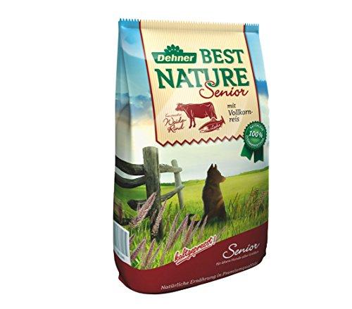 Dehner Best Nature hondenvoer, senior, wilderind en volkorrelrijs, 5 kg