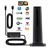 Antenna TV Digital HD Indoor, REDSTORM HD Indoor Digital TV Antenna with Amplifier Signal Booster 150 Miles Long Range HDTV Indoor Antenna Support HDTV and All Old Indoor TVs Television