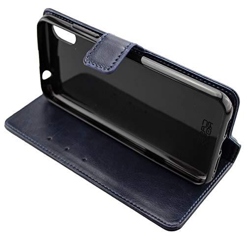 caseroxx Handy Hülle Tasche kompatibel mit Gigaset GS110 Bookstyle-Hülle Wallet Hülle in blau