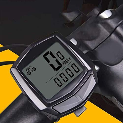 Wired Bicycle Computer Multifunction Waterproof LCD Display Bike Speedometer Bicycle Odometer Pedometer Backlight for Road Bike Mountain Bike