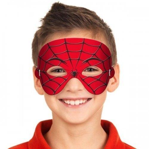 Folat Máscara de Fiesta Eva para niños, con diseño Spiderman