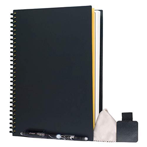 Intelligentes Notizbuch, wiederverwendbar, löschbar, langlebig, Papier, Tagebuch, Büro, Schule, Zeichnen, Notizbuch mit Stift (schwarz)