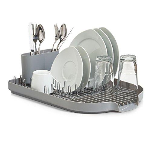 Zeller Geschirrabtropfständer, grau, Kunststoff, 45x32x13 cm