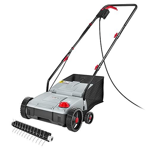 NETTA Lawn Scarifier and Aerator 2 In 1- Electric Lawn Rake 1500W,4 Working...