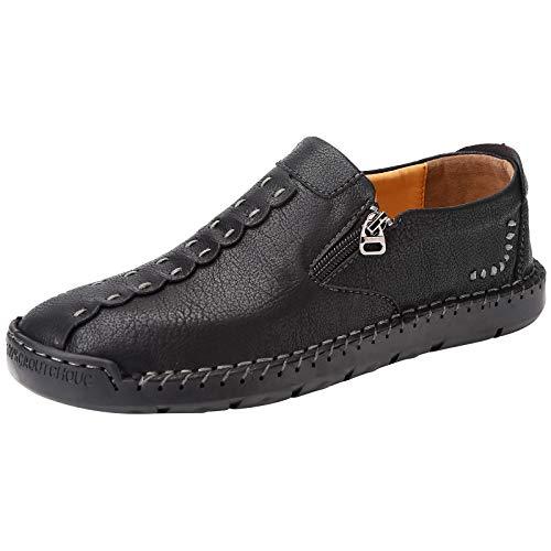 [JOYWAY] ブーツ メンズ 革靴 カジュアルシューズ レースアップシューズ 3E ローファー 軽量 おしゃれ ブラ...