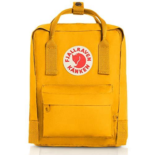 Fjällräven Unisex Rucksack Kånken Mini, warm yellow, 20 x 13 x 29 cm, 7 Liter, 23561-141