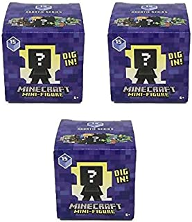Miniecraft Aquatic Series 15 Mini Figure Blind Box – Bundle of 3
