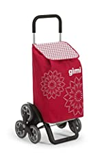 GIMI Tris Floral Rot Shoppingtrolley, rouge