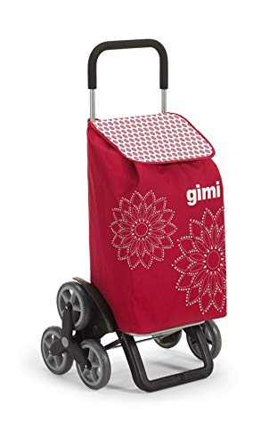 GIMI Tris Floral Rot Einkaufstrolley, rot