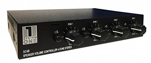 System One SC4B - Selector para 4 Pares de Altavoces con Control de...
