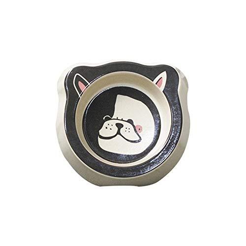 FANCYKIKI Facebook Edelstahl Schüssel Hund Doppelfutter Schüssel Teddy Trinkreis Schüssel Rutsch Verschleißfeste Katze Schüssel Katzentopf (Farbe : Pattern6)