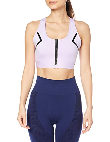PUMA High Impact Front Zip Bra Sujetador Deportivo, Mujer, Light Lavender, S
