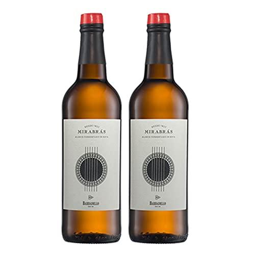 Vino blanco Mirabras de 75 cl - D.O. Tierra de Cadiz - Bodegas Barbadillo (Pack de 2 botellas)