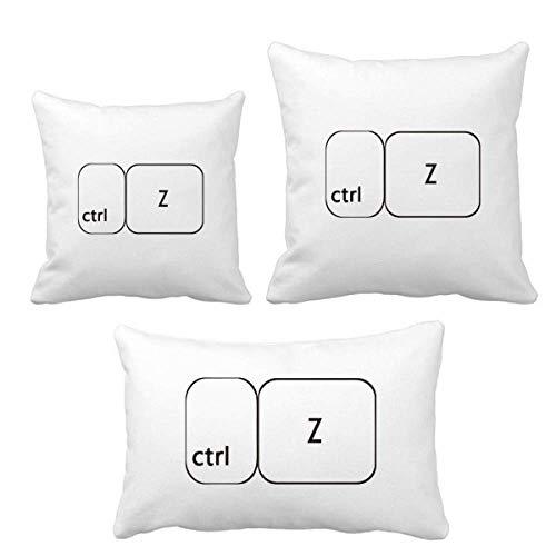 DIYthinker Tastatursymbol ctrl Z Wurf Kissen Set Einfügen Kissen Cover Home Sofa Dekor Geschenk