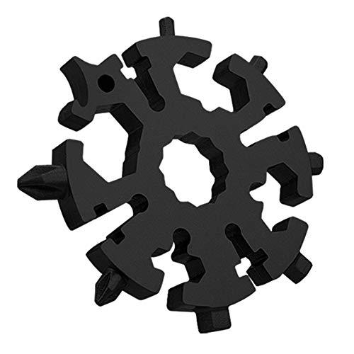 TOYALOR 20-in-1 Edelstahl Schneeflocke Multifunktionswerkzeug, Tragbares Multi-Tool-Schraubendreher für Outdoor-Abent, Flaschenöffner Anti-Lost-Schlüsselanhänger Gadgets Coole Werkzeug Kleine Geschenk