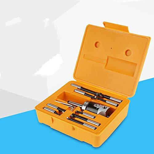 Accesorios para fresadora, 12 piezas MT2 -M10 F1-12 Cabezal de mandrinado de 50 mm con 9 piezas de barras de mandrinado de 12 mm