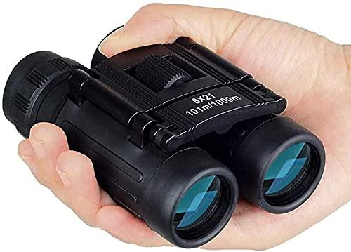 DZCGTP Telescopio 8x21 Zoom Mini Binoculares de Bolsillo Plegables Telescopio 8X Binocular...