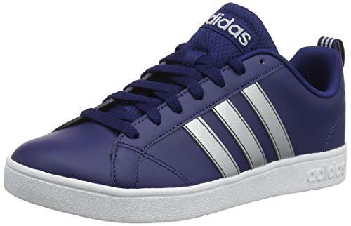 adidas Vs Advantage, Zapatillas de Tenis Hombre, Azul (Dark Blue/Matte Silver/FTWR White Dark Blue/Matte Silver/FTWR White), 43 1/3 EU