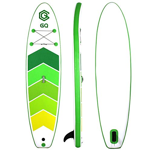 InChengGouFouX Tabla De Sup Hinchable Junta de Paddle Sup 305x76x15cm Kit Inflable Incluye Kit de Accesorios de la Bomba Manual Touring Ligero Y Duradero (Color : Verde, Size : 305x76x15cm)