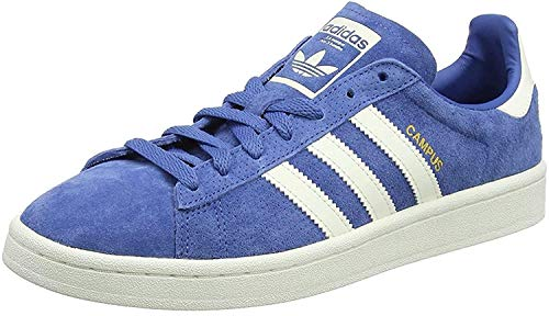 adidas Men's Campus Trainers, Blu Trace Blue F17 Chalkwhite Gold Met, 5 UK
