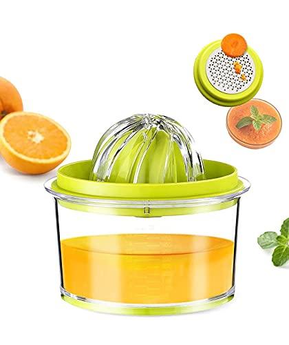Calm Cozy Spremiagrumi Manuale, Spremi Pressa Limone Arance Limoni Agrumi con 2 Alesatori...