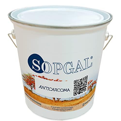Anticarcoma - Sopgal (5 litros): protege madera, aglomerados y contrachapados frente al ataque de carcoma