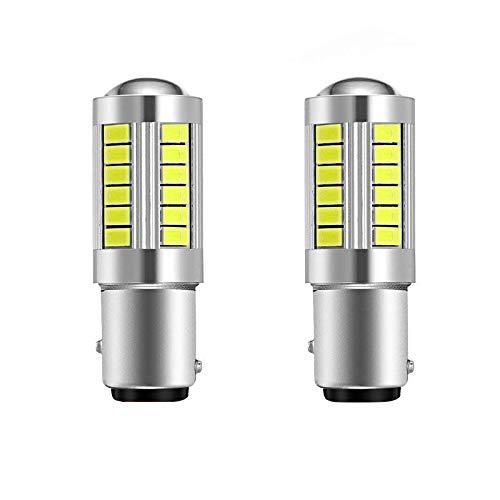 Cikuso Super Bright LED 1157 Ha Condotto La Lampadina P21 / 5W BAY15D LED con 33SMD 5730 Chipset per Freno, Girare, Parcheggio, Retromarcia E Il Backup dei Luci, Xeno Bianco (Set di 2)