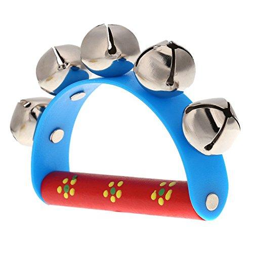 TOOGOO(R)Petit Tambourin avec sonnettes boule metal de cloche Percussion jouet musical pour enfant