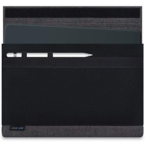 Adore June 10,5/11 Zoll Bold Tasche für Apple iPad Air 10.5 2019, Apple iPad Pro 11 & Apple iPad Pro 10 5 mit Apple Pencil Halterung, Grau/Schwarz