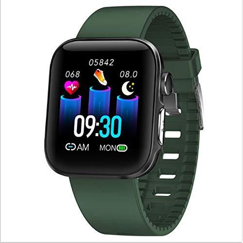 Pulsera De Actividad Reloj Inteligente,Impermeable para Hombres Mujeres Reloj Monitor De Sueño Monitor De Frecuencia Cardíaca Smart Watche Compatible con Teléfonos iOS Y Android Verde 1.54inch