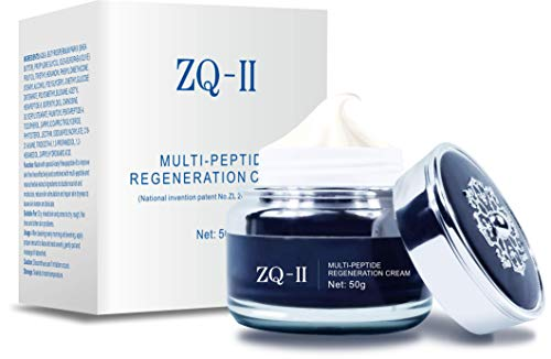ZQ-II Multi-Peptide Regeneration Cream, Anti-Aging Facial Moisturizer with Multi-Peptide & Collagen For Dry Skin, Featherlike Feeling Without The Burden Of Skin Comfort