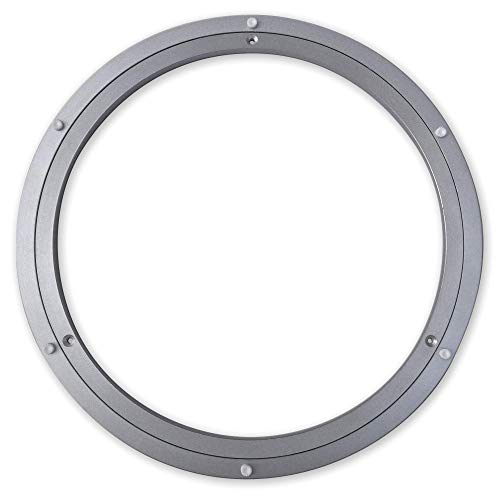 TROOPS BBQ Lazy Susan Turntable Ring - Medium-Duty Aluminum Lazy Susan Bearing Hardware Single-Row Ball Bearings for Heavy Loads (225 lbs. Capacity) - 16 Inches