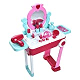Cuque Simulation Cosmetics Toy, Kids Children Role Play Kit Set Suitcase D-resser for Children Gift