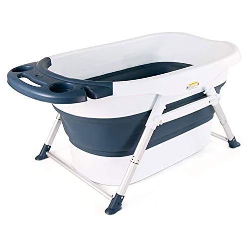 Los niños de adultos baño barril grande plegable Bañera retráctil reclinables grandes baño del cuerpo del baño azul barril