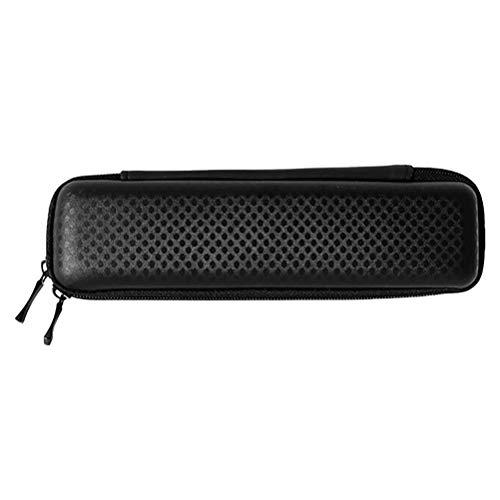 PartyKindom 1 Pc Doble Zippers Pen Bag EVA Multipurpose Papelería Caja de lápices (negro) Regalos para Hombres Mujeres