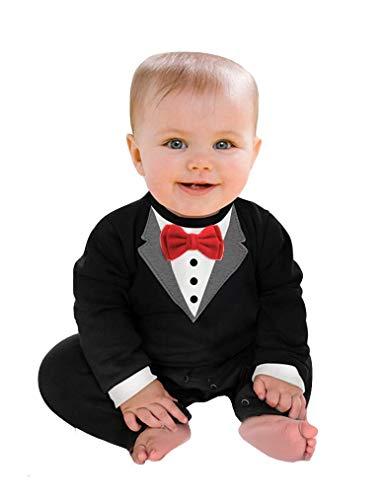 Zwart maat 90 - 12/18 maanden - kostuum - jumpsuit - onesie - baby - peuter - baby - heer - romper - lange mouwen - speciale gelegenheid - vermomming papillon