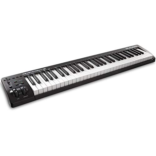 M-Audio Keystation 61 MKIII - Kompakter 61-Tasten MIDI Keyboard Controller mit zuweisbaren Reglern, Pitch/ Modulation Rädern, Plug-And-Play (Mac/PC) Konnektivität und Software Production Suite
