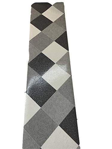 Tappeto cucina a metraggio PVC largo 50 cm marmette cementine rombo glitter lucido