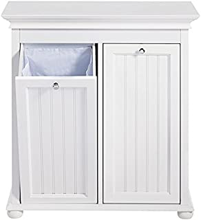 Home Decorators Collection Hampton Bay Double Tilt Out Beadboard Bathroom Hamper, 27