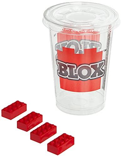 Simba 104118922, Blox, 500 czerwonych klocków dla dzieci od 3 lat, 8 kamieni, w kartonie, z pojemnikiem do napełniania, w pełni kompatybilny z wieloma innymi producentami