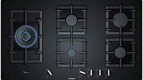 Bosch Serie | 6 90 cm 5 Burners Black Glass Gas Hob (Built in) PPS9A6B90I