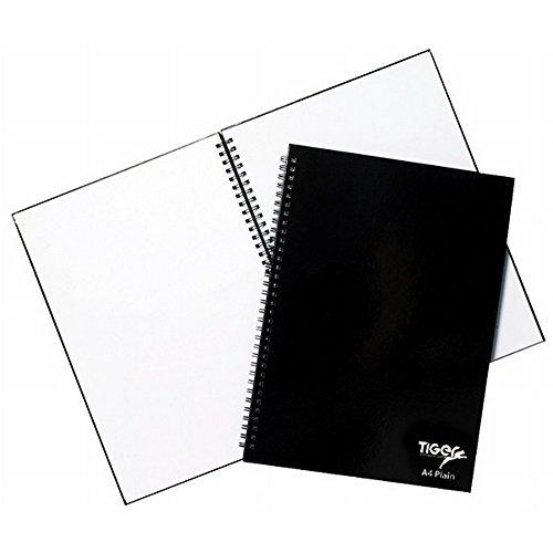 Tiger - Notebook A4 con spirale e fogli bianchi, cover rigida