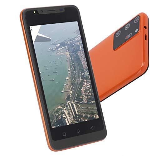 gostcai Smartphone Note30 Plus, teléfono móvil con Pantalla de 5.0 Pulgadas, teléfono con Doble Modo de Espera, teléfono HD de Pantalla Completa, teléfono con desbloqueo Facial con Huellas(Naranja)