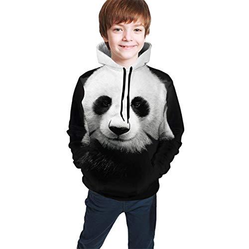 shenguang Kinder Hoodie Youth Hoodie Sweatshirt, Giant Panda Realistic 3D Digital Printed Pullover Tops for Boys Girls 7-20 Years
