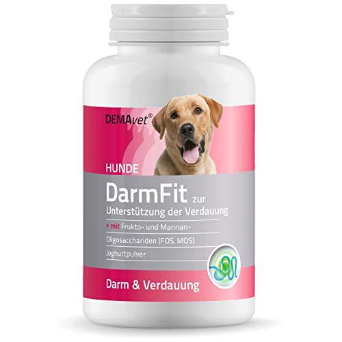DEMAvet® DarmFit Nahrungsergänzungsmittel für Hunde Verdauung Magen Darm | Von Tierärzten entwickelt | Gleichgewicht der Darmflora und bei Durchfall 120 Tabletten