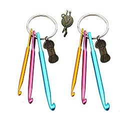 Key chain with crochet hooks
