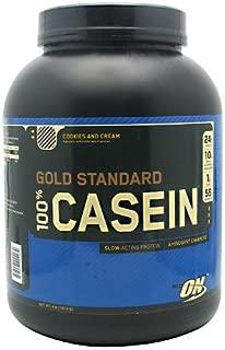 Optimum Nutrition 100%ゴールドスタンダード カゼインプロテイン 1.82kg (Gold Standard 100% Casein 4 lbs) (クッキー&クリーム(Cookies & Cream))