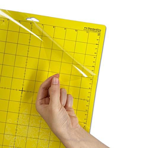 "ReArt Standard Grip Cutting Mat for Silhouette Cameo 4/3/2/1-4 Packs 12"" x 12"" Adhesive Cut Mat Replacement Set Matts Vinyl Craft"