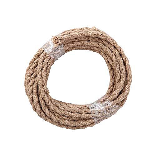 PIANUO Cuerda de Cáñamo 2 núcleos, 0,75 mm² Cable Eléctrico Para Colgante...